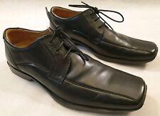 Clarks Flex 24 Black Leather Lace Up Shoes Rubber Soles UK Size 9.5