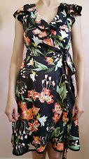 Hi There from Karen Walker Hibiscus Wrap Dress Size 0 Black NW ANTHROPOLOGIE Tag