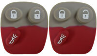 2 Remote Key Keyless Fob Repair Replacement Rubber Button Pad Repair Fix Worn