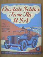Vintage sheet music-chocolate soldier from the usa-wwii american favorite