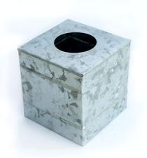 Nirman Galvanized Metal Square Rustic Finish Tissue Box,Tissue Holder - for Indo