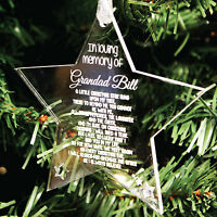 Personalised Loving Memory Christmas Tree Decoration   Engraved Bauble Gift