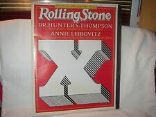 RARE ROLLING STONE MAGAZINE 10th ANNIVERSARY ISSUE 1977 THOMPSON LEIBOVITZ