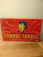 Vintage The Game of Tongue Tangle Board Game by Spears Complete and Boxed