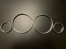 SPEEDOMETER DIAL GAUGE RINGS BEZEL CHROME FOR BMW E39 M5 E38 E53 X5 TRIM