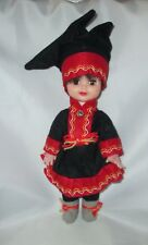 "Ethnic costume doll Finland Norway Laplander plastic traditional 12"" tall"