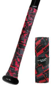 VULCAN ADVANCED POLYMER BAT GRIPS - LIGHT 1.00 MM - RED SIZZLE
