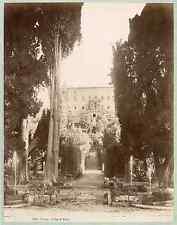 Italia, Tivoli - Villa d'Este  Vintage albumen print. Italy.  Tirage albu