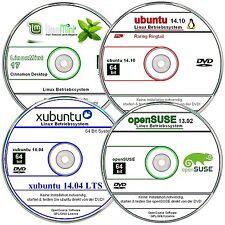 Linux Paquete 64 bit, 4 betriebssysteme Alemán ✔ 4 DVD ` S