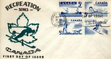 1957 #365-8 Recreation Sports FDC with C George cachet unaddressed