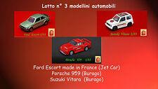 SUZUKI VITARA-FORD ESCORT-PORCHE 959 - auto Modellini  stock lotto collezzione