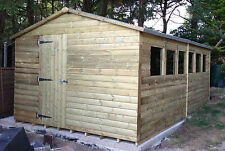 16x10 20mmTanalised Pressure Treated Loglap Workshop/Shed 16ftx10 Tanalised Shed