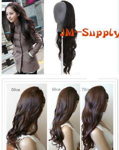Perücke hochwertiger Halb Perück leicht gewellt 50,60,70cm Haarverlängerung