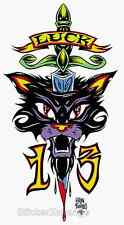 Lucky Cat Sticker Decal Poster Artist Alan Forbes AF2