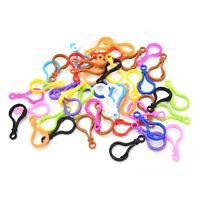 100PcsPlastic KeyChains Key Ring Multi-Color With Loop 50mm*25mm Color Random NI