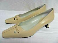 Easy Spirit Shoes Womens Broadpeak Pumps Heels leather new beige 9M