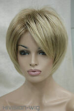Charming Golden Blonde Short Straight Women ladies Daily Wig Natural FTLD298