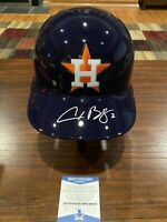 Alex Bregman Signed Houston Astros Rawlings Full Size Batting Helmet Beckett #3