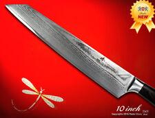 Japanese Damascus Kiritsuke 10 inch Chef's Knife Wood Handle Kitchen Cutlery