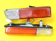 DATSUN 1200 B110 B210 120Y A PAIR OF FRONT PARKING & TURN SIGNAL LIGHTS BUMPER