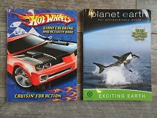 New 2 pack Coloring & Activity Book - Hot Wheels & Planet Earth