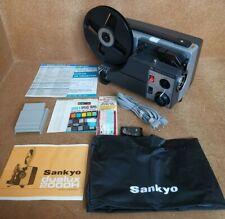 Vintage Sankyo Dualux 2000H Super8, Singles, Standard 8, Cine Projector + Manual