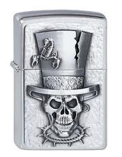 ZIPPO Lighter ● Skull Top Hat ● 2001666 ● Emblème ● nouveau new neuf dans sa boîte ● a104