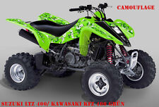 INVISION DEKOR GRAPHIC KIT ATV KAWASAKI KFX 400 DECALS  CAMO B