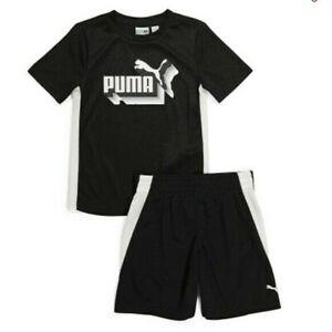 PUMA Boys 2pc Athletic Outfit set t shirt shorts