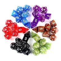 7ST. / Set TRPG Spiele Dungeons & Drachen D4-D20 mehrseitige Würfel Zufällig FL
