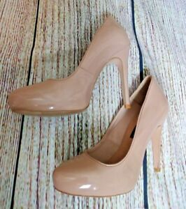 Stunning Nude Patent FRENCH CONNECTION Court Shoes Size 37 (4)