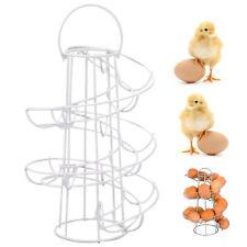 Spiral Helter Skelter Kitchen Storage Egg Holder Stand Rack Holds Up To 18 Eggs