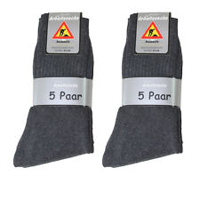10 Paar Herren Arbeits Socken 92% BW anthrazit Gr 47/50