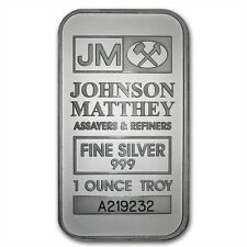 1 oz Johnson Matthey .999 Silver Bar