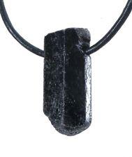 Pequeño Negro Turmalina/Turmalina Gema Piedra Burda Colgante Cristal Perforadas