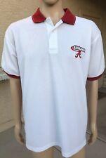 Vintage Alabama Crimson Tide S/S Polo Shirt Starter Size Large Roll Tide White