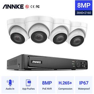 ANNKE H800 4K 8MP 8CH NVR CCTV System 8MP POE Network Audio Security Camera Kit