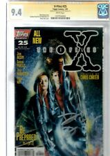 x- files topps.signed by david duchovny 25 cgc.9.4