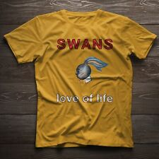 SWANS LOVE OF LIFE ROCK BAND - YELOW T SHIRT, SIZE M - 3XL