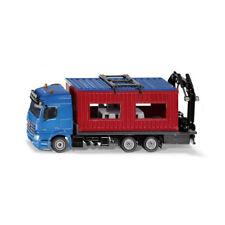 Siku 3556 Autocarro con Baucontainer BLU / Rosso Scala 1:50 MODELLINO AUTO