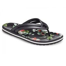 Crocs CROCBAND BOTANICAL PRINT 206101 Ladies Summer Flip Flops Black/Tropical