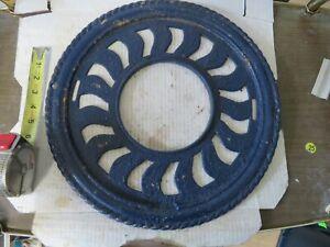 "Vintage Cast Iron Stove Pipe Ornate 16"" Chimney Collar Design"
