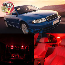 12 Pieces Interior Red Car LED Lights Package Kit Fit Audi A4 S4 B5 Sedan Avant