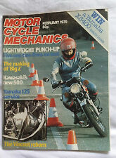 Motorcycle Mechanics MCM : February 79 : Vincent  : Kawasaki 500 : Yamaha 125