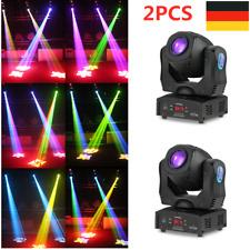 2pcs Tomshine 80W LED Moving Head Bühnenlicht DMX Gobo Lampe 8 Farben Party Show