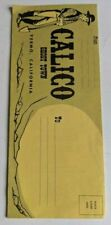 Vintage 1960s Calico Ghost Town Fold Out Park Brochure Knott's Berry Route 66 !!