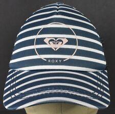 Blue Roxy Brand Logo Girls Style Striped Trucker Hat Cap Adjustable Snapback
