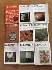 Keramik Töpfern 18 x Keramik Publication für Töpfer Sammler und Museen NEU