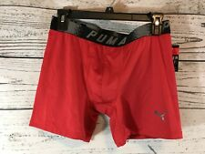 Puma Mens Red Boxer Brief Fitted Sport Athletic Underwear Medium NWT NEW