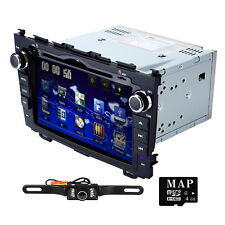 "Camera+8""Monitor Car Stereo DVD Player GPS Radio fit for Honda CRV 2008-2011+Map"